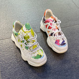 LUXE SEVEN DESIGN SLIM TRAINERS WITH ALL OVER PRINT - boopdo