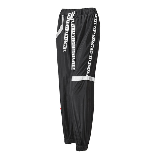 MIP SIDE TAPING TRACK PANTS WITH ELASTICATED CUFF