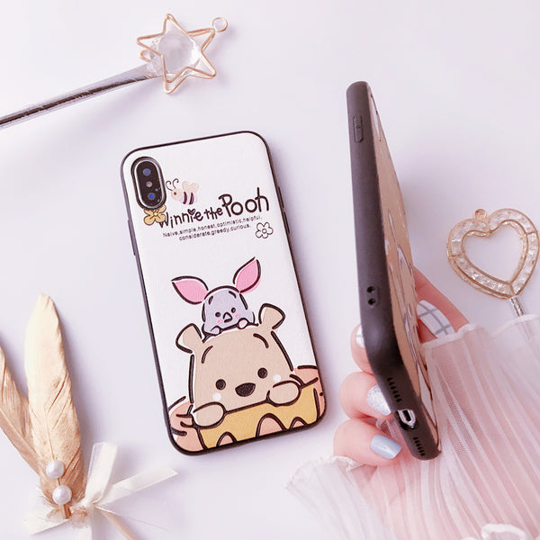 ARTWORK PAINTED WINNIELO CARTOON PRINT APPLE IPHONE CASES - boopdo