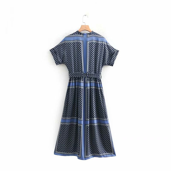 Urban Wear Mogli Union Midi Shirt Dress In Blue