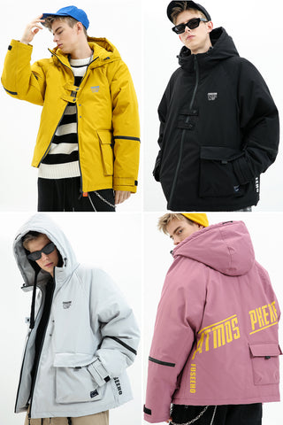 ATMOS PHERE FUSEEHO PADDED COTTON JACKET WITH FUNCTIONAL POCKET