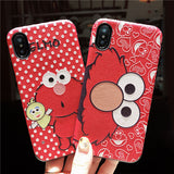 sesame street elmo cartoon print red iphone phone covers