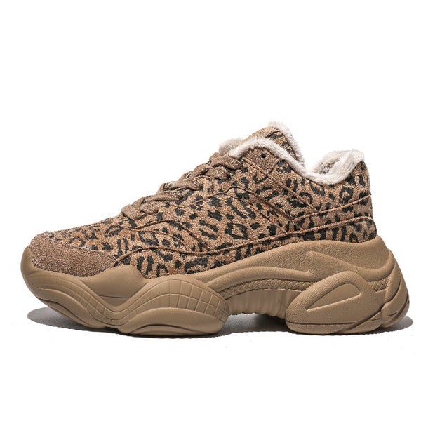 FXSO INS LEOPARD PATTERN CHUNKY PLATFORM TRAINERS 583656051534 - boopdo