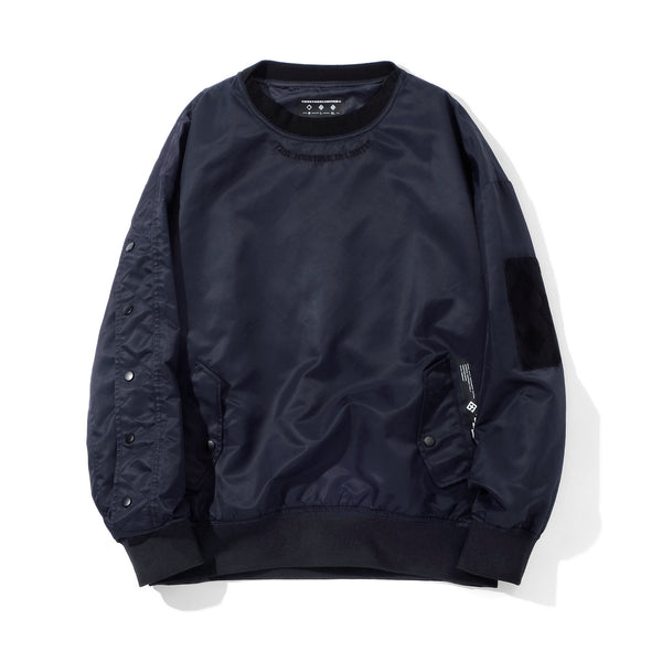 TOGETHER LIMITED HYPE BEAST STYLE CREW NECK SWEATSHIRT IN NAVY - boopdo