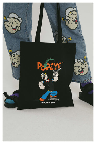 TYAKASHI RELAXED DAD JEANS IN POPEYE PRINT