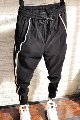 BOOPDO DESIGN TYLEX SPIRIT GUY SWEATPANTS WITH SIZE ZIPPER IN BLACK