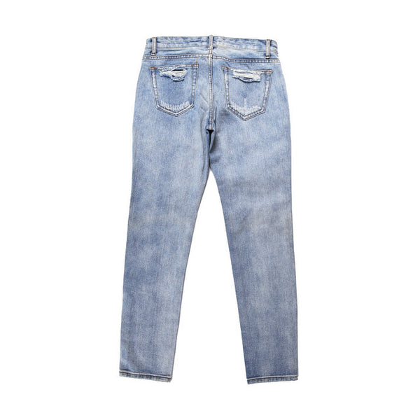 Denimo Kerry Sabage Ripped Denim Jean Pants In Light Blue