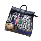 LETIFE SOUVENIRS FROM MILANO PROUNCE DUAL USE TRAVEL HANDBAGS - boopdo