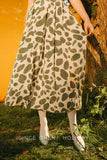 SINCE THEN COLLARED MAXI SMOCK DRESS IN ABSTRACT SPOT PRINT