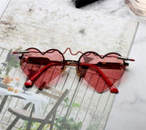 BOOPDO DESIGN LOVE HEART SHAPED FRAME SUNGLASSES - boopdo