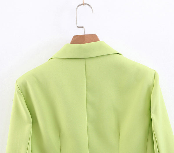BOOPDO FRENCH DESIGN SUIT JACKET IN GREEN - boopdo