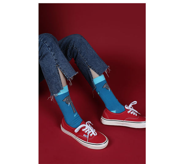 ZWILL UNIQUE CHILL ELEPHANT CARTOON PRINT CASUAL SOCKS - boopdo