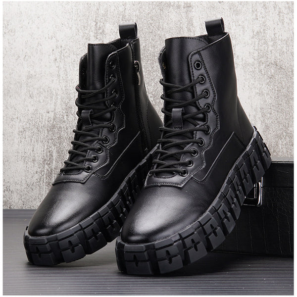 VOKO ZACRIE BRITISH STYLE CHUNKY SOLE UNISEX SNEAKER BOOTS - boopdo