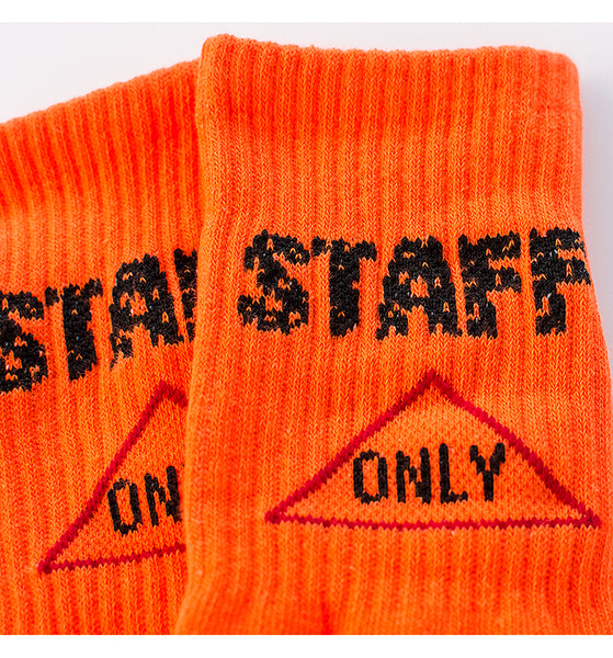 BOOPDO DESIGN STAFF ONLY PRINT SPORTS STYLE SOCKS