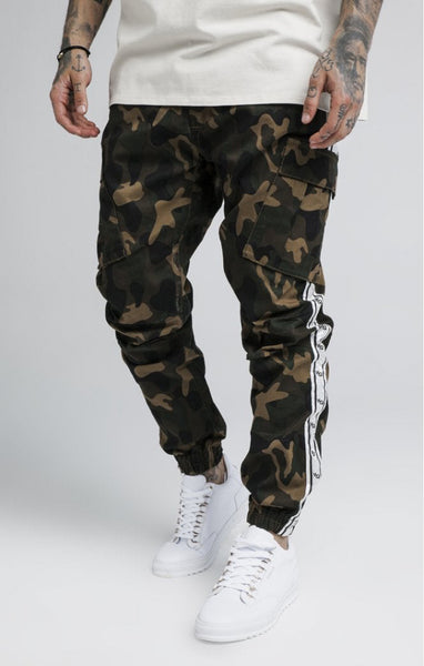 DR MUSCLE RANGER POWER BEAST ATHLETIC STYLE CAMO JOGGER PANTS - boopdo