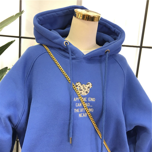 SIMDA HOODIE WITH CHEST EMBROIDERY - boopdo