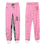 MIP TAPED SIDE STRIPE TRACK PANTS IN PINK - boopdo
