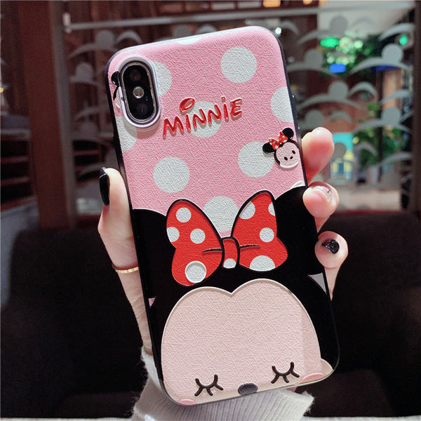 CUTIE BABY MOUSES CARTOON EMBOSSED APPLE IPHONE ANTI FALL PHONE CASES - boopdo