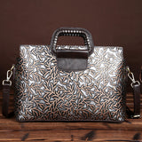 BARNABAZ JUDY DENITO EMBOSSED SLUNG MESSENGER BAGS