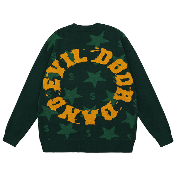 NICKO FORZA STAR CREW NECK UNISEX SWEATERS - boopdo