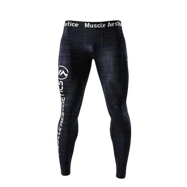 MUSCLE AESTHETIC FITNESS TRAINING ELASTIC COMPRESSION TIGHTS