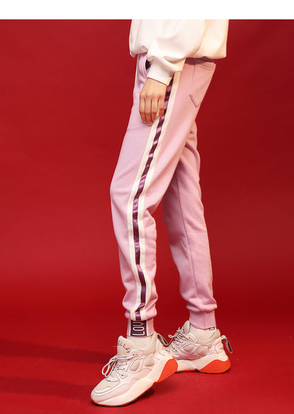 URBAN TRENDY TRACKSUIT WITH CONTRAST PANEL PINK BLUE  8914401001
