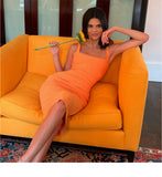 Women Orange Dress