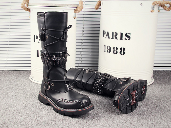 RODEO CAMPO SNAPDRAGON HIGH BOOTS IN BLACK WITH RIVET