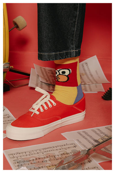 BOOPDO DESIGN MIXED CARTOON FIGURED BOOT SOCKS