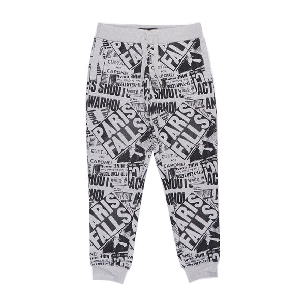 LA BLACK STREET NIGXA OLD SCHOOL TERRY JOGGER PANTS IN GRAY