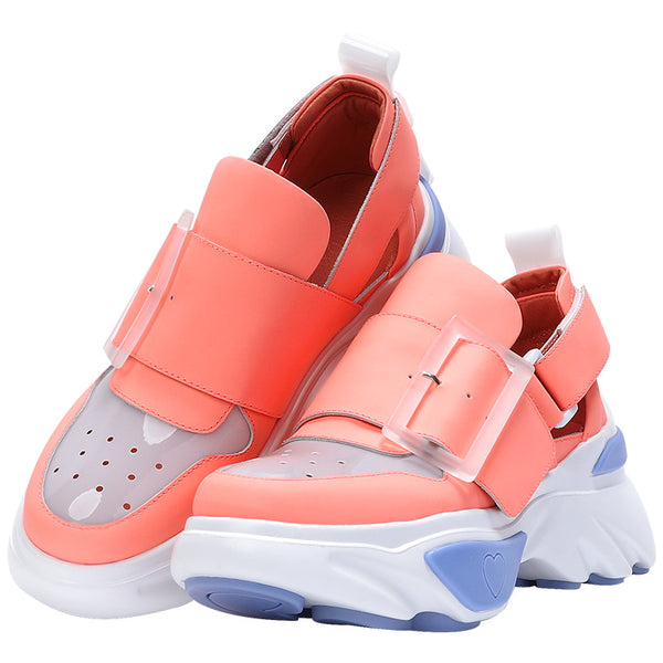 FOXY CHIC ALLENSON BEVERLY DESIGN CHUNKY SOLE LEATHER WOMEN SNEAKER - boopdo