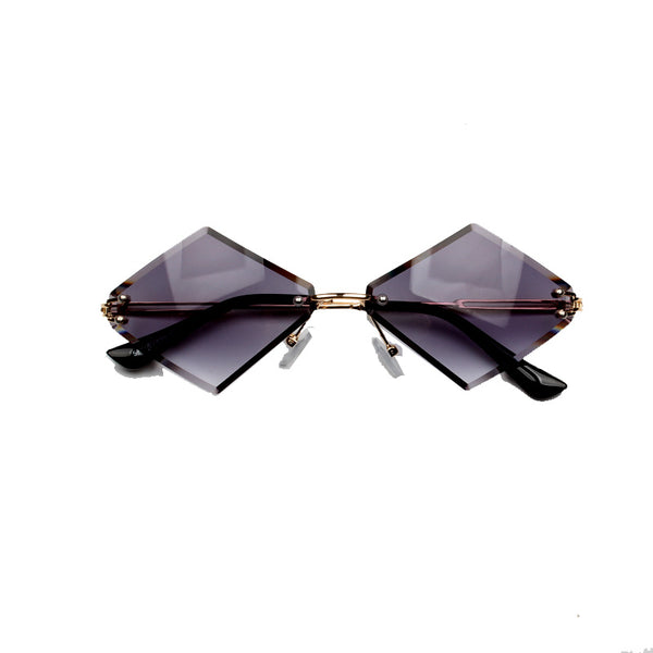 INDIGOLIA BOOPDO DESIGN DIAMOND SHAPED FRAMELESS SUNGLASSES