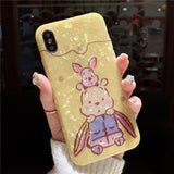 CUTIE TEDDY BEARS CARTOON EMBOSSED SILICONE APPLE IPHONE COVERS