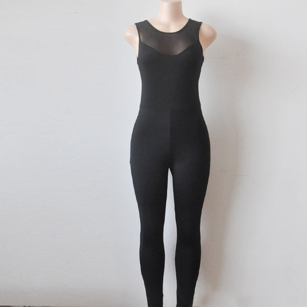 ZUMBA GIRLS MESH PANEL GYM BODYSUIT IN BLACK