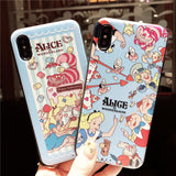 ALICE IN WONDERLAND EMBOSSED APPLE IPHONE COVER - boopdo