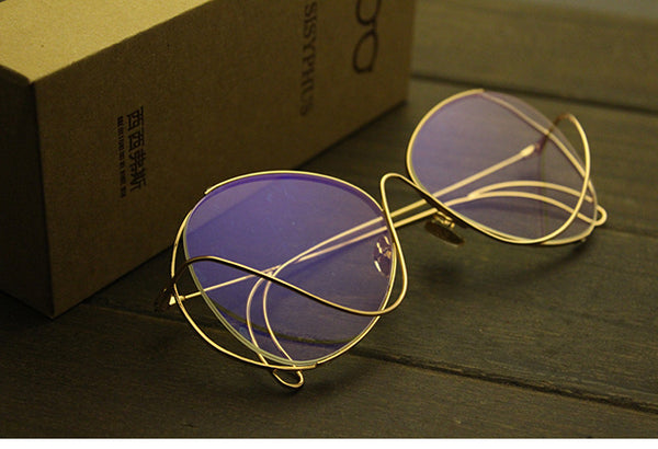 SISYPHUS RONGHAO TRANSPARENT HIPSTER SUNGLASSES - boopdo