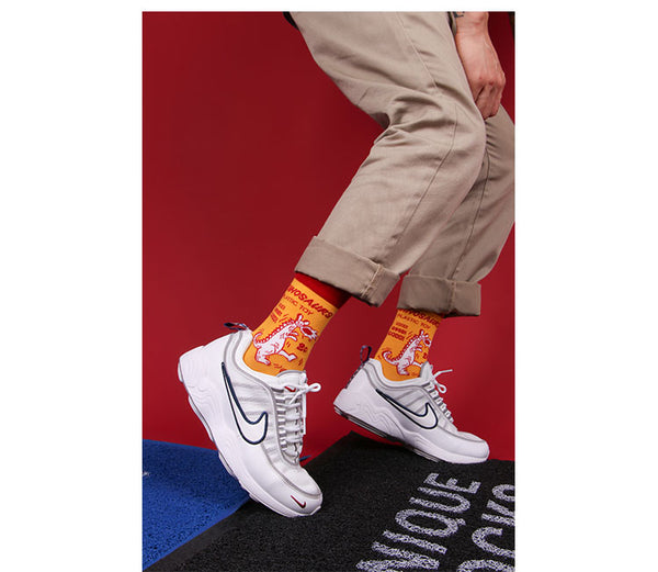 ZWILL UNIQUE SWAG ZENDELL CARTOON PRINT UNISEX SOCKS - boopdo