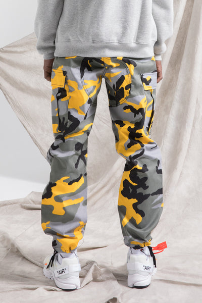 WANGZO BORCH MAX ADJUSTABLE CAMOUFLAGE SWEATPANTS IN MULTI COLOR