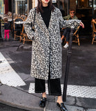 8GIRLS DESIGN WOOL MIX OVERCOAT IN LEOPARD - boopdo