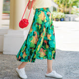 8GIRLS DESIGN PLEATED SKIRT IN VINTAGE FLORAL - boopdo