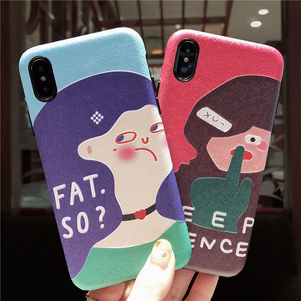 KEEP SILENCE FAT SO QUESTION MARK APPLE MATTE IPHONE CASE