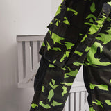 SHOW RICH MADE BY ABOW LIFE CONTRAST COLOR CAMO GREEN TRACK PANTS - boopdo