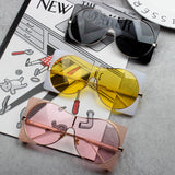 BOOPDO DESIGN FIRE BOX ONE PIECE TRANSPARENT SQUARE SUNGLASSES - boopdo