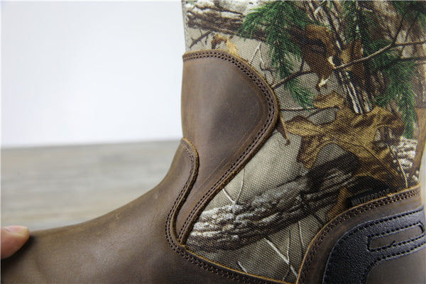 BRAHMA MAGELLAN WATERPROOF PROTECTION LEATHER BOOTS IN CAMO - boopdo