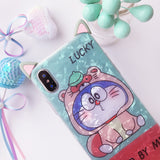 WALLPAPER CARTOON CUTE STAND BY ME LUCKXI FROSTED APPLE IPHONE COVERS - boopdo