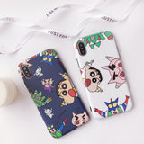 CRAYON SHINCHAN CARTOON PRINT APPLE IPHONE CASE - boopdo