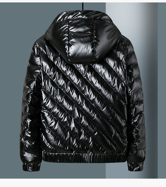 BROXIP REFLECTIVE BRIGHT HOODIE JACKETS IN SILVER AND BLACK - boopdo