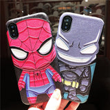 BATMAN SPIDER MAN APPLE IPHONE SILICONE PROTECTIVE PHONE CASE - boopdo