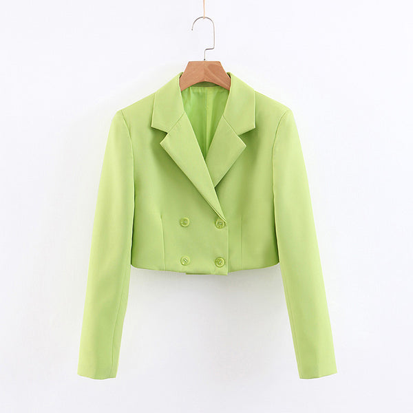 BOOPDO FRENCH DESIGN SUIT JACKET IN GREEN