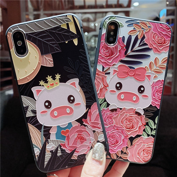 CUTIE PIGS BOOPDO DESIGN FRAME WORK APPLE IPHONE CASES - boopdo